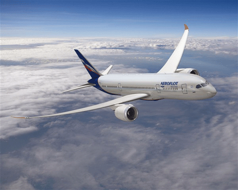 Varna Airport - Aeroflot airline, Varna, Bulgaria